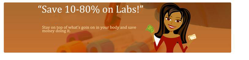 Save 10-80% on labs